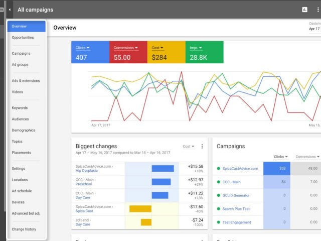AdWords UI