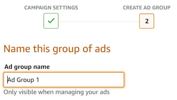 Amazon Ad group